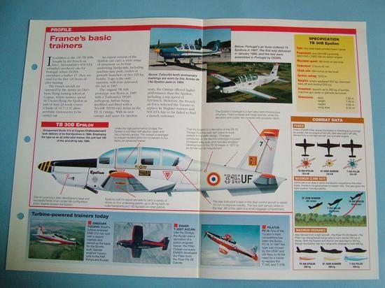 Modern Combat Aircraft of the World Card 81 Aerospatiale SOCATA TB 30B Epsilon