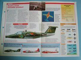 Modern Combat Aircraft of the World Card 82 SAAB 105 Austrian air defence