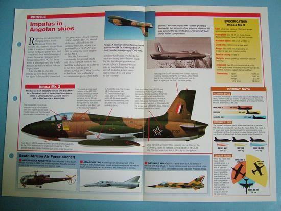 Modern Combat Aircraft of the World Card 85 Atlas Impala licence built MB326