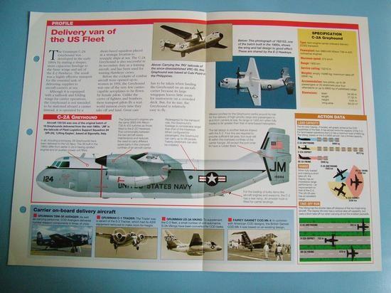 Modern Combat Aircraft of the World Card 88 Grumman C 2A Greyhound COD Aircraft
