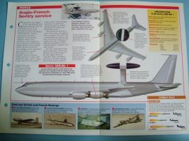 Modern Combat Aircraft of the World Card 89 Boeing E 3DF Sentry AEW