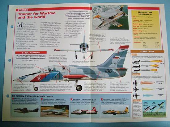 Modern Combat Aircraft of the World Card 90 Aero L 39L 59 Albatros Czech built