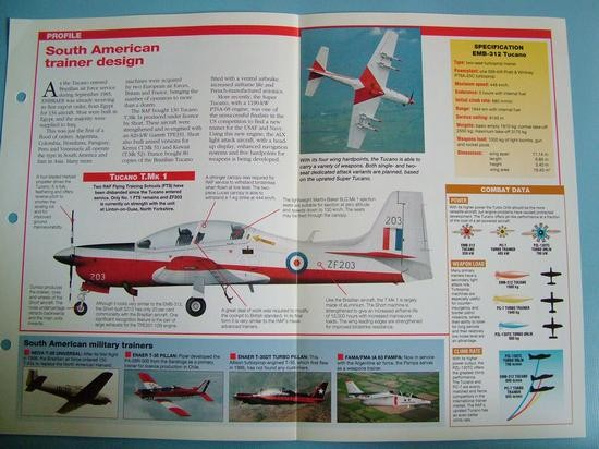 Modern Combat Aircraft of the World Card 91 Embraer EMB 312 Tucano turboprop