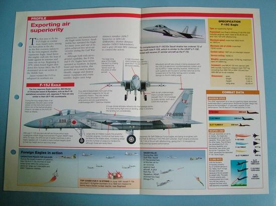 Modern Combat Aircraft of the World Card 94 McDonnell Douglas F 15AC Eagle