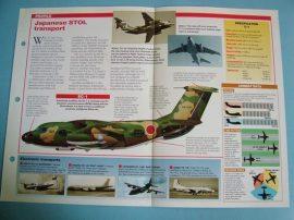 Modern Combat Aircraft of the World Card 96 Kawasaki C 1 Twin jet transport