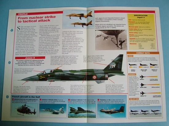 Modern Combat Aircraft of the World Card 97 Sepecat Jaguary AE Anglo French
