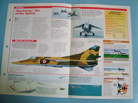 Modern Combat Aircraft of the World Card Mikoyan MiG 27 Flogger DJ