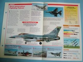 Modern Combat Aircraft of the World Card70 Lockheed Martin F 16C Fighting Falcon
