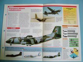 Modern Combat Aircraft of the World Card77 Transall C160 Franco German Tactical