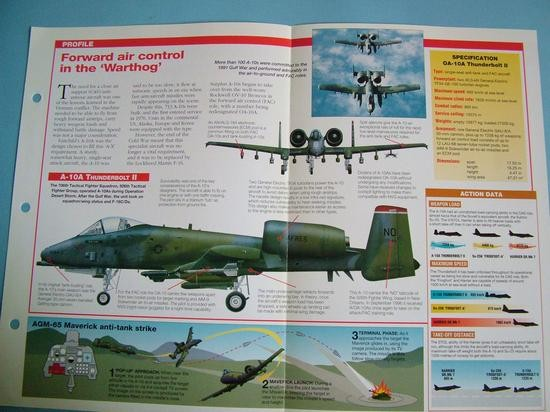 Modern Combat Aircraft of the World Card86 Fairchild A 10 Thunderbolt II