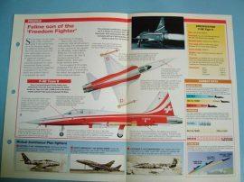 Modern Combat Aircraft ofthe World Card80 Northrop FRF5E Tiger IIF20Tigershark