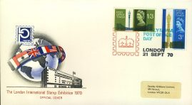 refcd400 Philympia 1970 LONDON STAMP EXHIBITION Official Cover Ltd Issue Post Office Tower Stamps Unsealed - no insert card. Please see larger photo and full description for details.