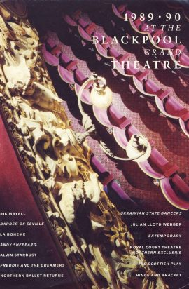 1989 - 90 Season at the BLACKPOOL GRAND Theatre Programme refb1395 Measures approx 22cm x 29cm.
