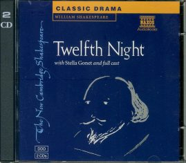 SHAKESPEARE Twelfth Night STELLA GONET + full cast Audio Book 2 CDs NA218112C refS4 VGC  Please see photo and full description.
