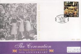 2003 Coronation 50th Anniversary Mercury Commemorative Cover WESTMINSTER ABBEY 2nd June 2003 refCD249 Not Sealed. No insert card. Please see larger photo and full description for details.