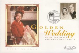 1997 Charles Christening Golden Wedding HM The Queen & Prince Philip Commemorative Luxury First Day Cover Britannia Royal Naval College DARTMOUTH refCD261 Not Sealed. No insert card. Please see larger photo and full description for details.