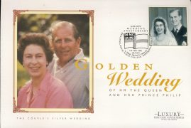 1997 Silver Wedding Golden Wedding HM The Queen & HRH Prince Philip Commemorative Luxury First Day Cover Britannia Royal Naval College DARTMOUTH  refCD265 Not Sealed. No insert card. Please see larger photo and full description for details.