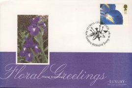 1997 Floral Greetings Flower Stamp KEW GARDENS Luxury First Day Cover refCD250 Not Sealed. No insert card. Please see larger photo and full description for details.