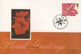 1997 Floral Greetings Flower Stamp KEW GARDENS Luxury First Day Cover refCD252 Not Sealed. No insert card. Please see larger photo and full description for details.