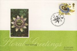 1997 Floral Greetings Flower Stamp KEW GARDENS Luxury First Day Cover refCD253 Not Sealed. No insert card. Please see larger photo and full description for details.