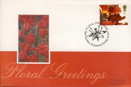 1997 Floral Greetings Flower Stamp KEW GARDENS Luxury First Day Cover refCD257 Not Sealed. No insert card. Please see larger photo and full description for details.