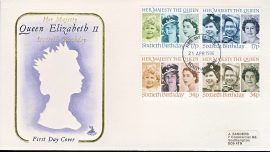 1986-04-21 Queens 60th Birthday Stamps FDC Mercury First Day Cover refCD278No insert card. Please see larger photo and full description for details.