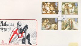 1985-09-03 Arthurian Legends Stamps FDC Mercury First Day Cover refCD3009 No insert card. Mark on cover due to address label. Please see larger photo and full description for details.