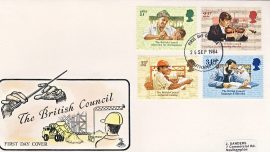 1984-09-25 British Council Stamps FDC Mercury First Day Cover refCD284 No insert card. Please see larger photo and full description for details.
