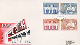 1984-05-15 Europa CEPT European Parliamentary Elections Stamps Mercury FDC First Day Cover refCD285 No insert card. Please see larger photo and full description for details.