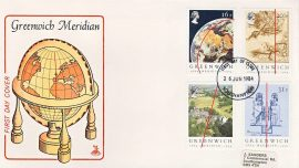 1984-06-25 Greenwich Meridian Stamps FDC Mercury First Day Cover refCD287 No insert card. Please see larger photo and full description for details.