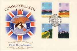 1983-03-09 Commonwealth Day Stamps FDC Stuart First Day Cover refCD273 with insert card. Please see larger photo and full description for details.