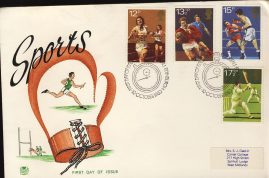 1980-10-10 Sports Anniversaries Stamps FDC Stuart First Day Cover refCD392 No insert card. Some marks. Please see larger photo and full description for details.