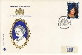 1980-08-04 Queen Mother 80th Birthday Stamps FDC Stuart GLAMIS CASTLE First Day Cover refCD394 with insert card. Please see larger photo and full description for details.