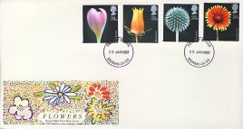 1987-01-20 Flower Photographs Stamps FDC SOUTHEND-ON-SEA fdi refcd436 In good condition. Flap sealed inside with insert card.  Please see larger photo and full description for details.