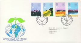 1983-03-09 Commonwealth Day Stamps FDC 99p cover refcd443 In good condition. With insert card. Please see larger photo and full description for details.