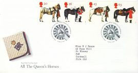 1997-07-08 Horses the Queens Stamps FDC 99p cover refcd450 In good condition. Sealed. With insert card. Please see larger photo and full description for details.