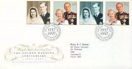 1997-11-13 Royal Golden Wedding  Stamps FDC 99p cover refcd451 In good condition. With insert card. Please see larger photo and full description for details.