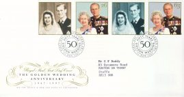 1997-11-13 Royal Golden Wedding  Stamps FDC 99p cover LONDON SW1 refcd452 In good condition. With insert card. Please see larger photo and full description for details.