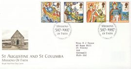 1997-03-11 Religious Anniversaries Missions Stamps FDC 99p cover refcd453 In good condition. With insert card. Please see larger photo and full description for details.
