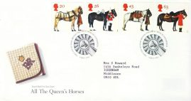 1997-07-08 All the Queens Horses Stamps FDC 99p cover refcd454 In good condition. Sealed with insert card. Please see larger photo and full description for details.