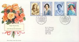1990-08-02 Queen Mother 90th Birthday Stamps FDC 99p cover refcd455 In good condition. With insert card. Please see larger photo and full description for details.
