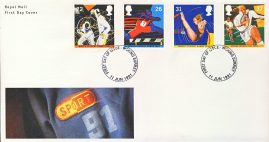 1991-06-11 Sports Stamps FDC 99p cover WOKING fdi refcd459 In good condition. With insert card. Please see larger photo and full description for details.