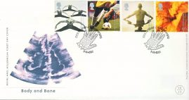 2000-10-03 Body and Bone Stamps FDC 99p cover GLASGOW refcd464 In good condition. With insert card. Please see larger photo and full description for details.