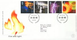 2000-02-01 Fire and Light Stamps FDC 99p cover refcd466 In good condition. With insert card. Please see larger photo and full description for details.