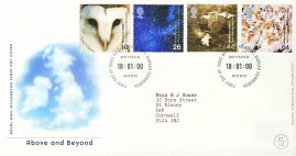 2000-01-18 Above and Beyond Stamps FDC 99p cover refcd467 In good condition. With insert card. Please see larger photo and full description for details.