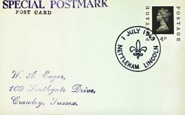 1969 July 1st Nettleham Lincoln Special Postmark postcard refP6-15 Postcard in very good used condition with blank reverse. Some wear to corners. Please see larger photos and full description for details.