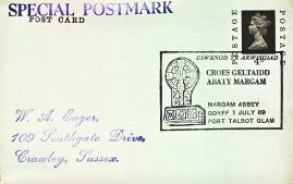 1969 Margam Abbey Gorff Port Talbot Glam Special Postmark postcard refP6-6 Postcard in very good used condition with some wear to corners. Printed address on reverse. Please see larger photos and full description for details.