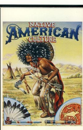 Native American Culture Tribal lore & archaeology 1993 USPS Postcard refUSA P4 Please see large photos and description for details.