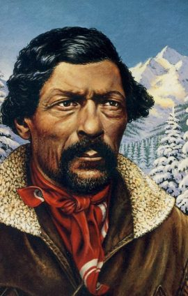 Jim Beckwourth Black pioneer mountain man fur trader 1993 USPS Postcard refUSA P4 Please see large photos and description for details.