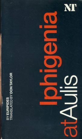 Iphigenia at Aulis National 2004 Theatre Programme refb100933 Used Programme in Good Condition. Measure approx 13.5cm x 24cm Date written in cover.